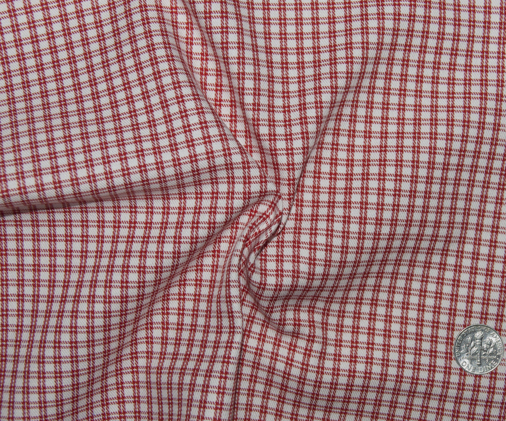 Friday Shirt:Red Double Pin Checks