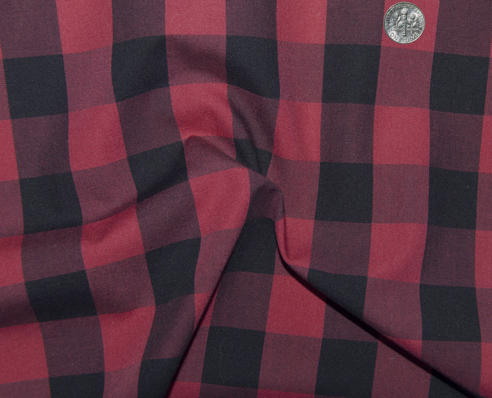 Friday Shirt:Ruby Red Black Macro Gingham