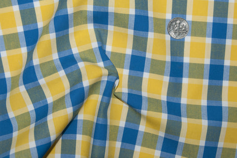Friday Shirt:Blue Yellow Tattersall