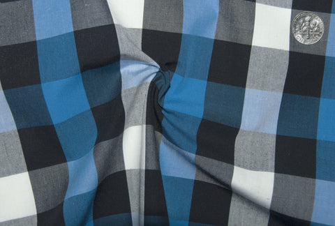 Friday Shirt: Blue White Black Macro Gingham