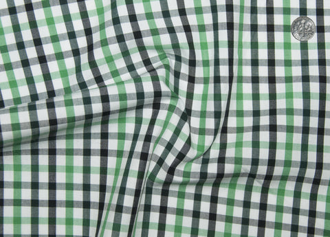 Friday Shirt:Shades Of Green Gingham