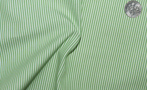Green Pin Stripes On White