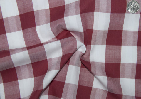 Friday Shirt: Red White Macro Gingham