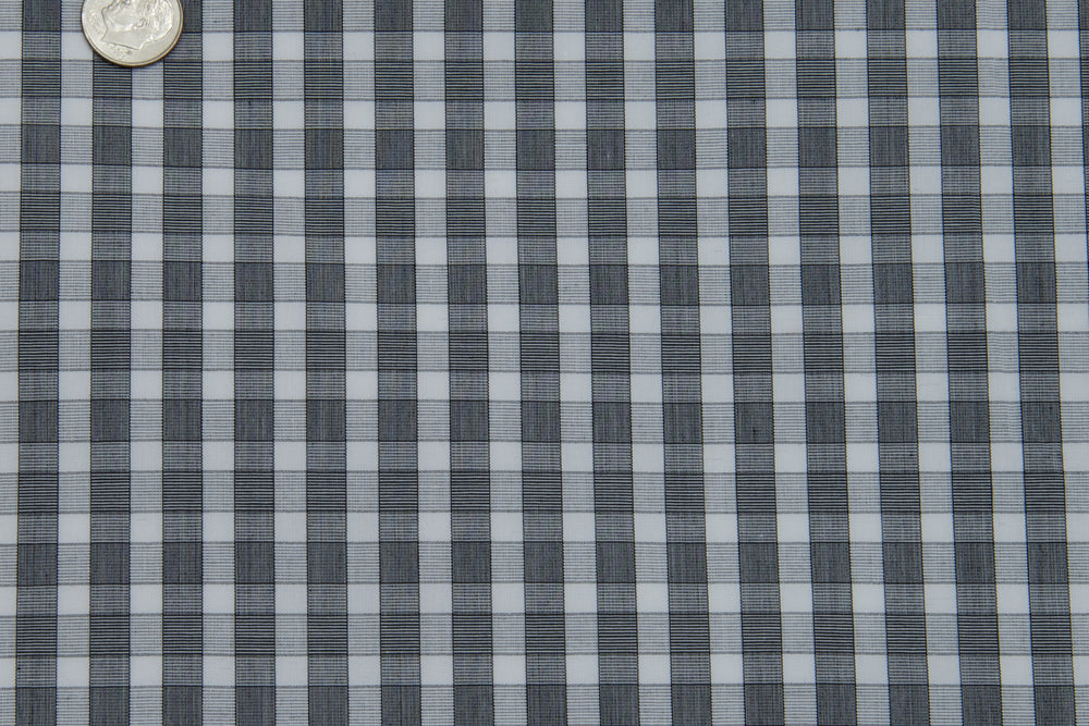 Grandi Grey End on End Gingham