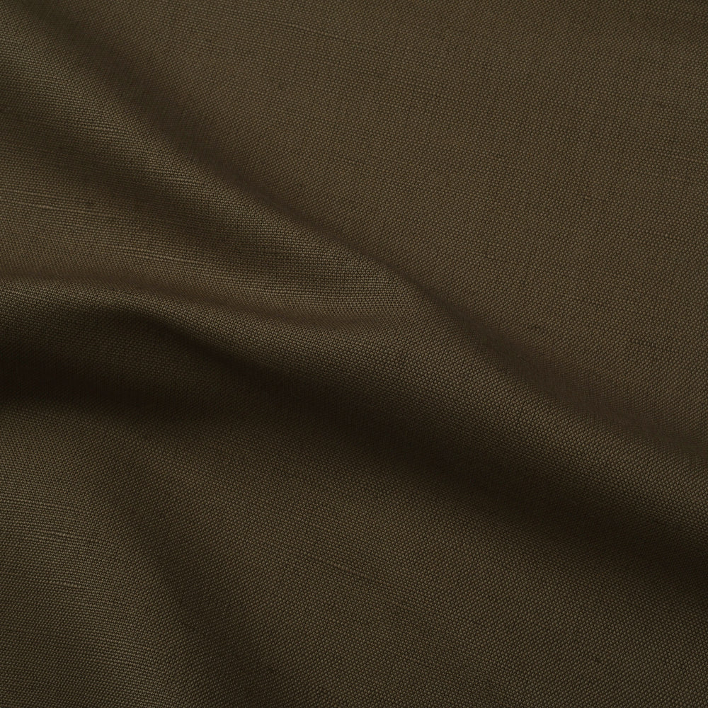 Gurkha Pant in Khaki Cotton Canvas Linen