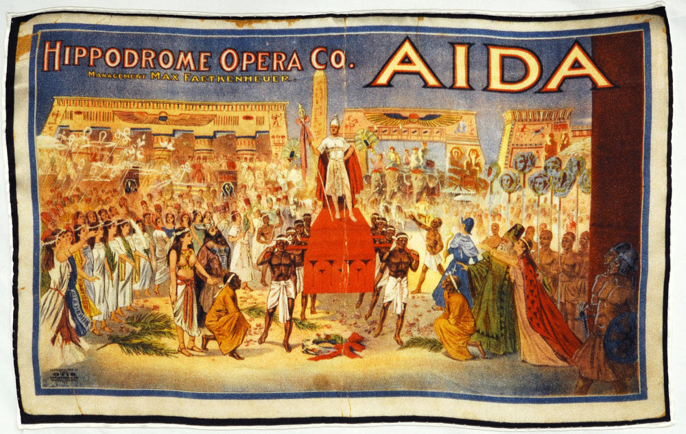 Aida Opera Poster Pocket Square