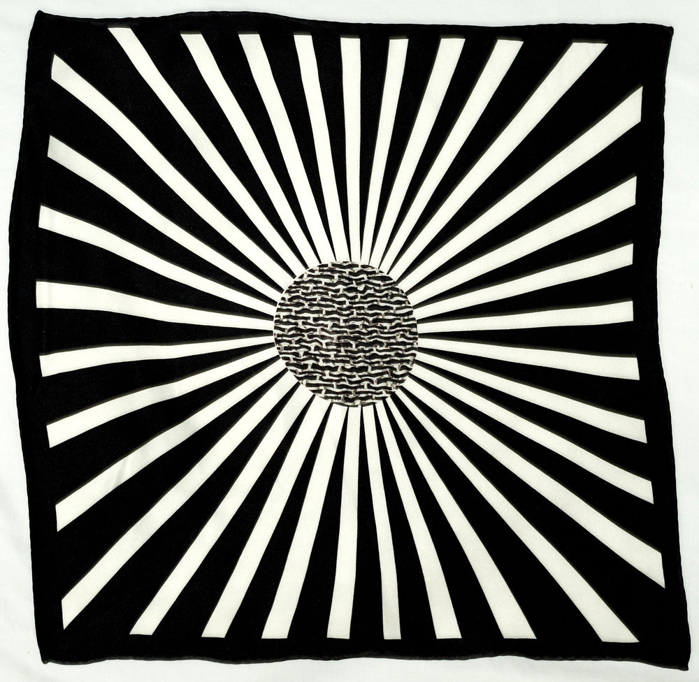 Shining Black and white Pocket Square