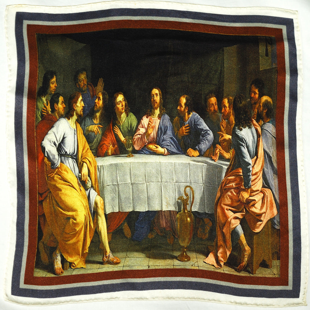 Last Supper Pocket Square – Luxire Custom Clothing
