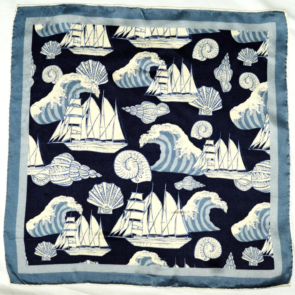 Sea Shells Sails Pocket Square (171761237)