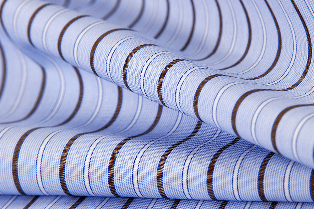 Blue Brown White Alternate Stripe