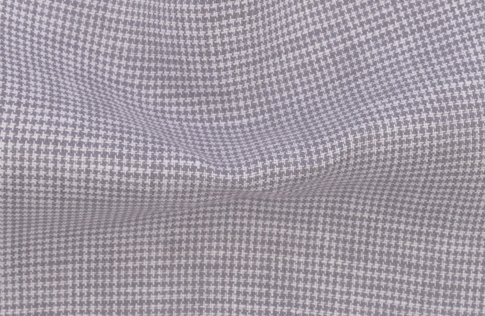Grey Linen Houndstooth