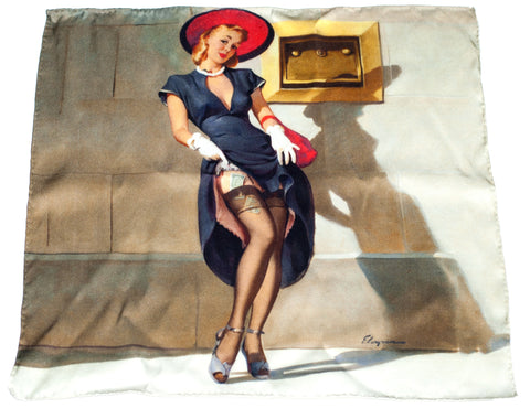 Pocket Square - Socking It Away - Gil Elvgren