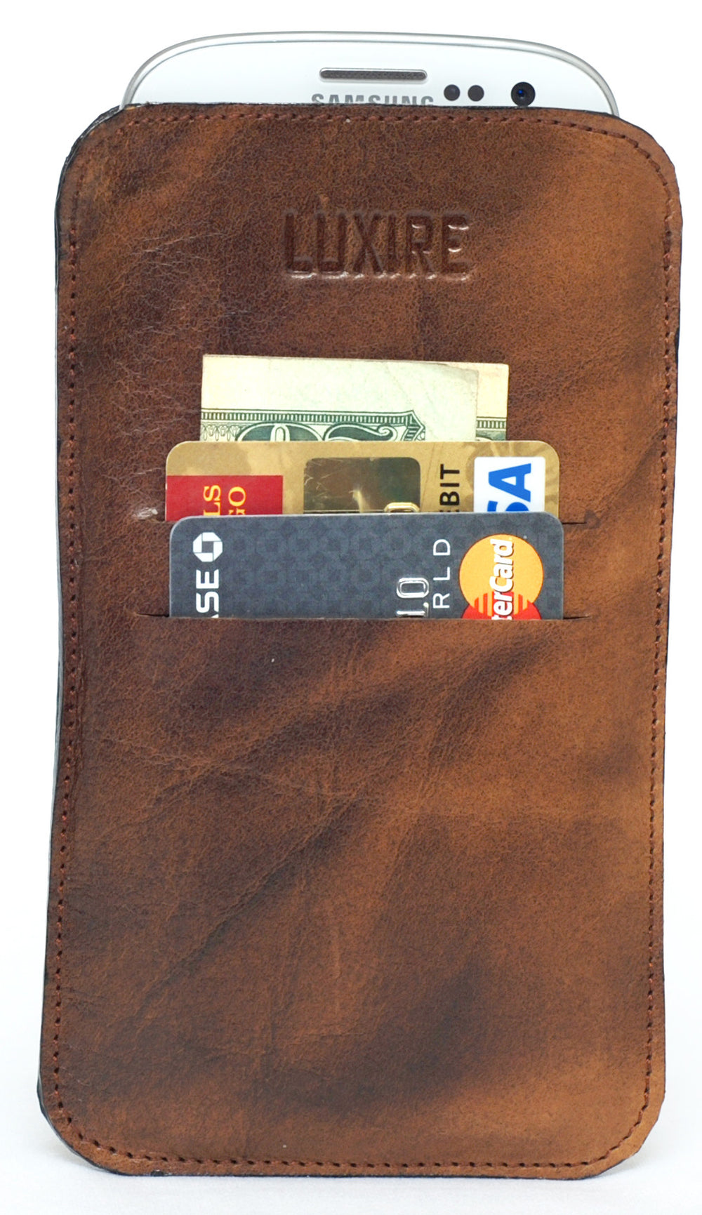 Top-Grain Leather Mobile Case