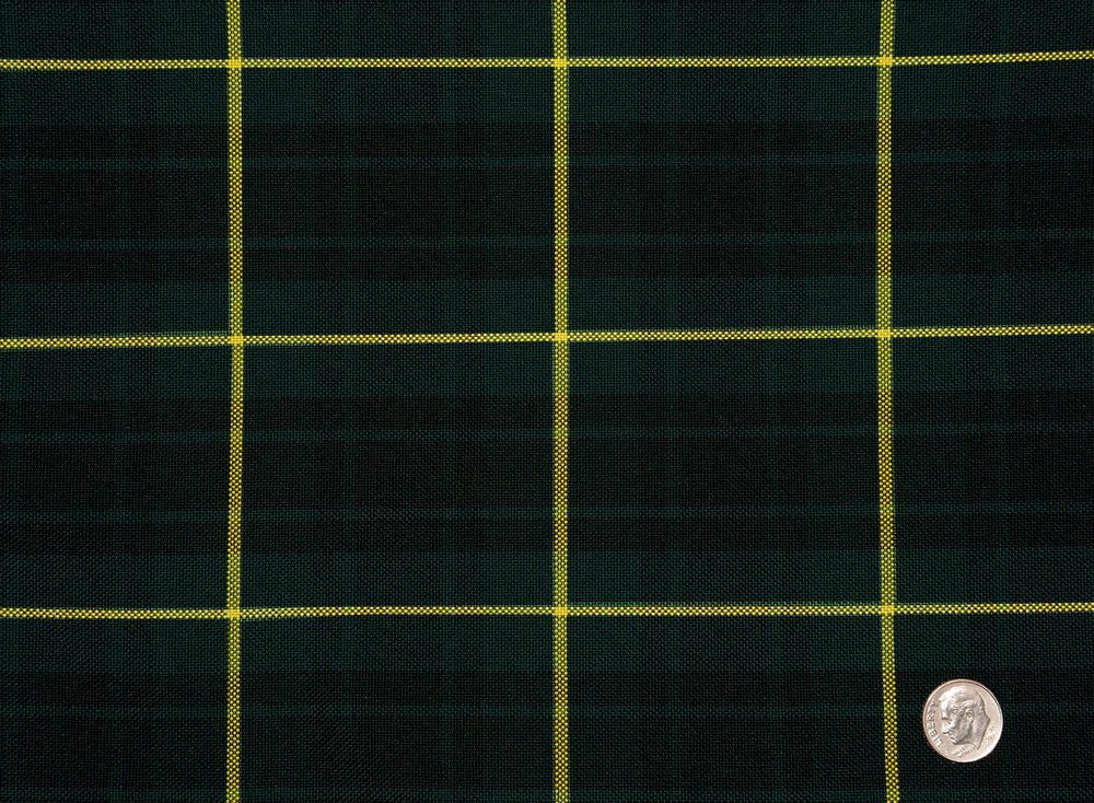 TARTAN CHECKS GREEN BLACK YELLOW