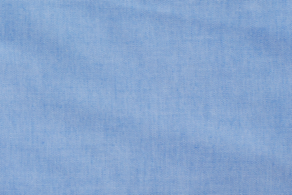 Easy-to-Iron Blue Chambray