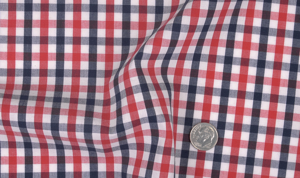 Red Blue White Gingham Checks