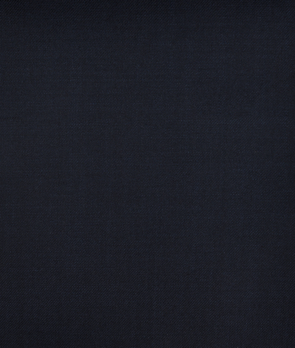 Wool-Rich Plain Navy Fine Twill Super 120's