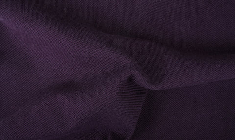 Dark Plum Purple Pique