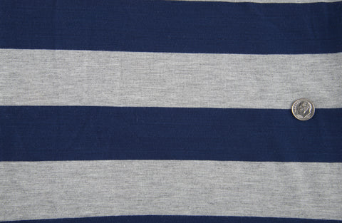 Cobalt Blue Grey Wide Stripes Jersey