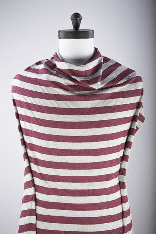 Maroon Grey Awning Stripes Jersey