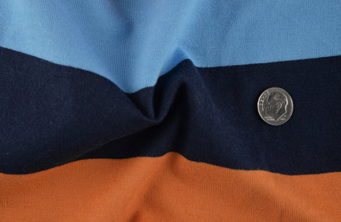 Navy Orange Blue Stripes Jersey