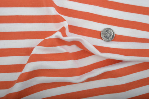 Orange white stripes Jersey