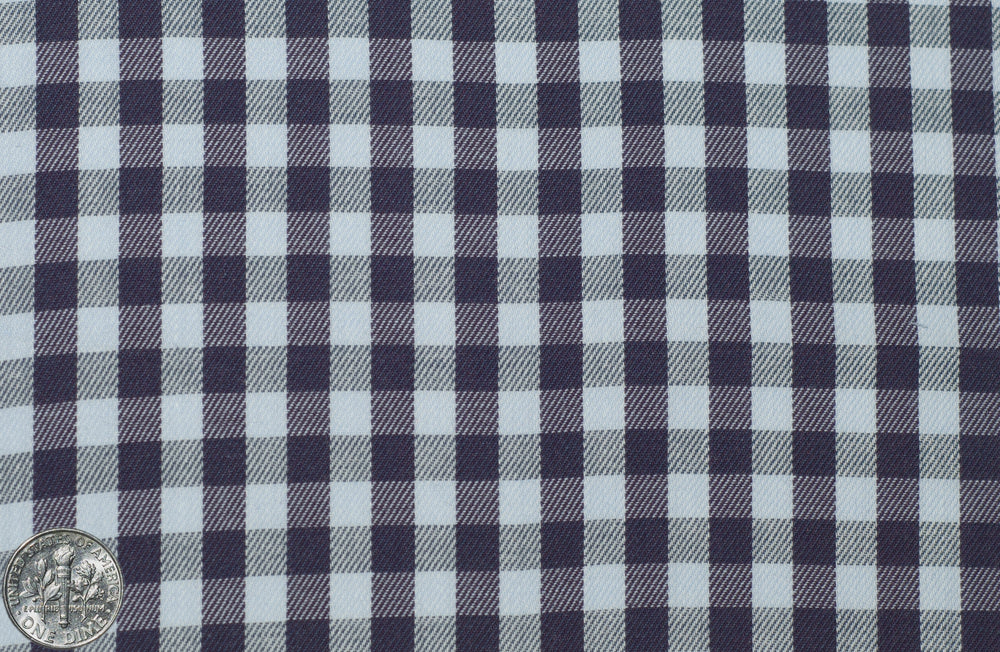 Purple Pale Blue Gingham Twill (228643745)