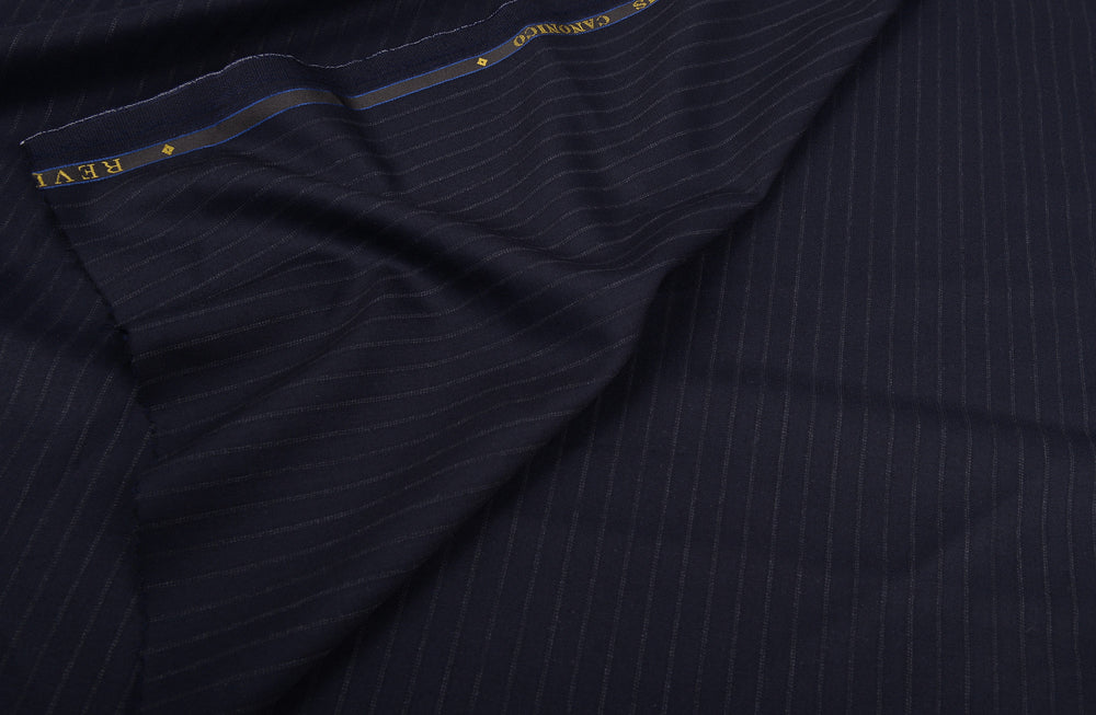 Vitale Barberis Canonico- 150s Fade Grey Pin-stripes On Navy Twill (3652455428)