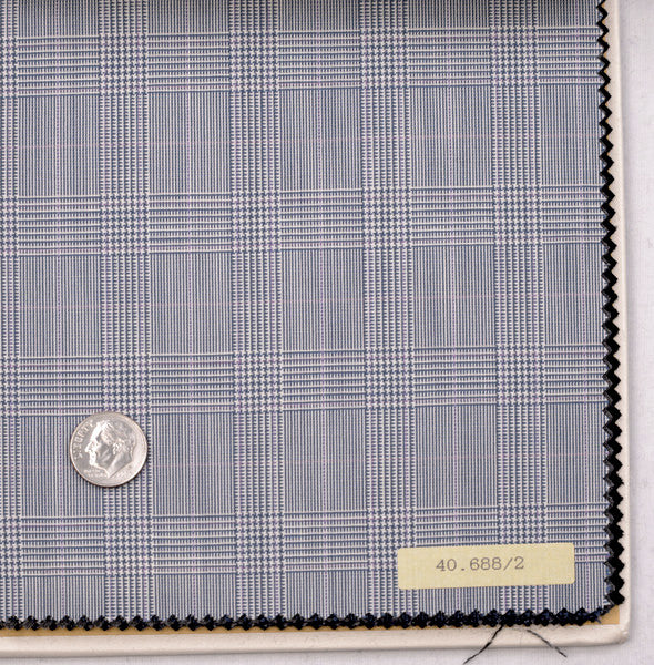 Vitale Barberis Canonico - 120s 2 Ply Grey Blue POW Checks