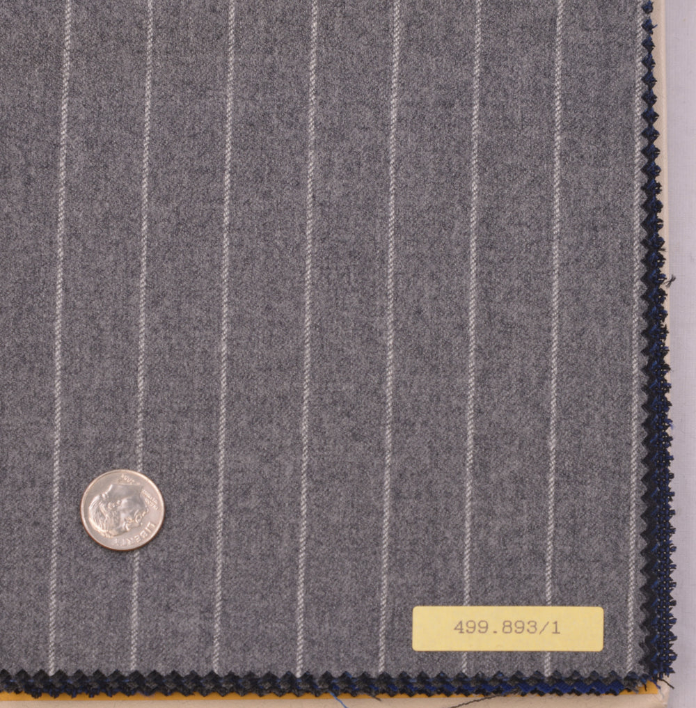 Vitale Barberis Canonico - Flannel Classics  Light Grey Pinstripes