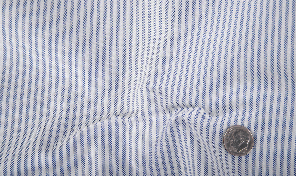 Blue University Stripe Oxford