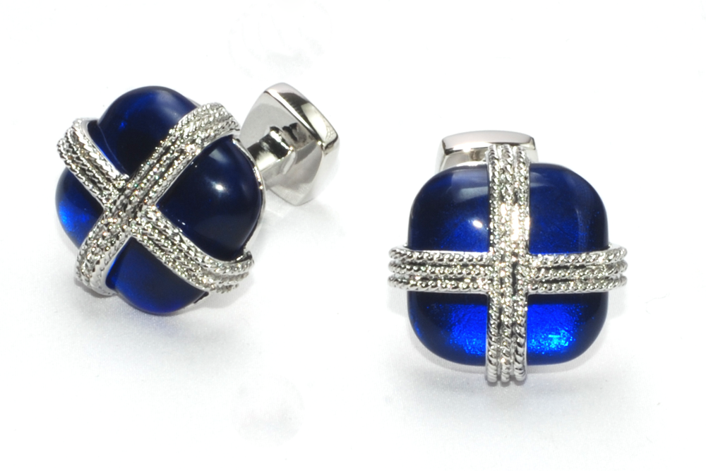 Vintage Cross on Blue Stone
