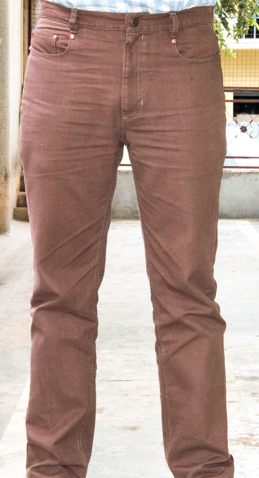 Chocolate Brown Canvas Jeans