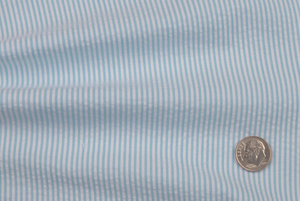 Alaskan Blue  Dress Stripes Seersucker (450875124)