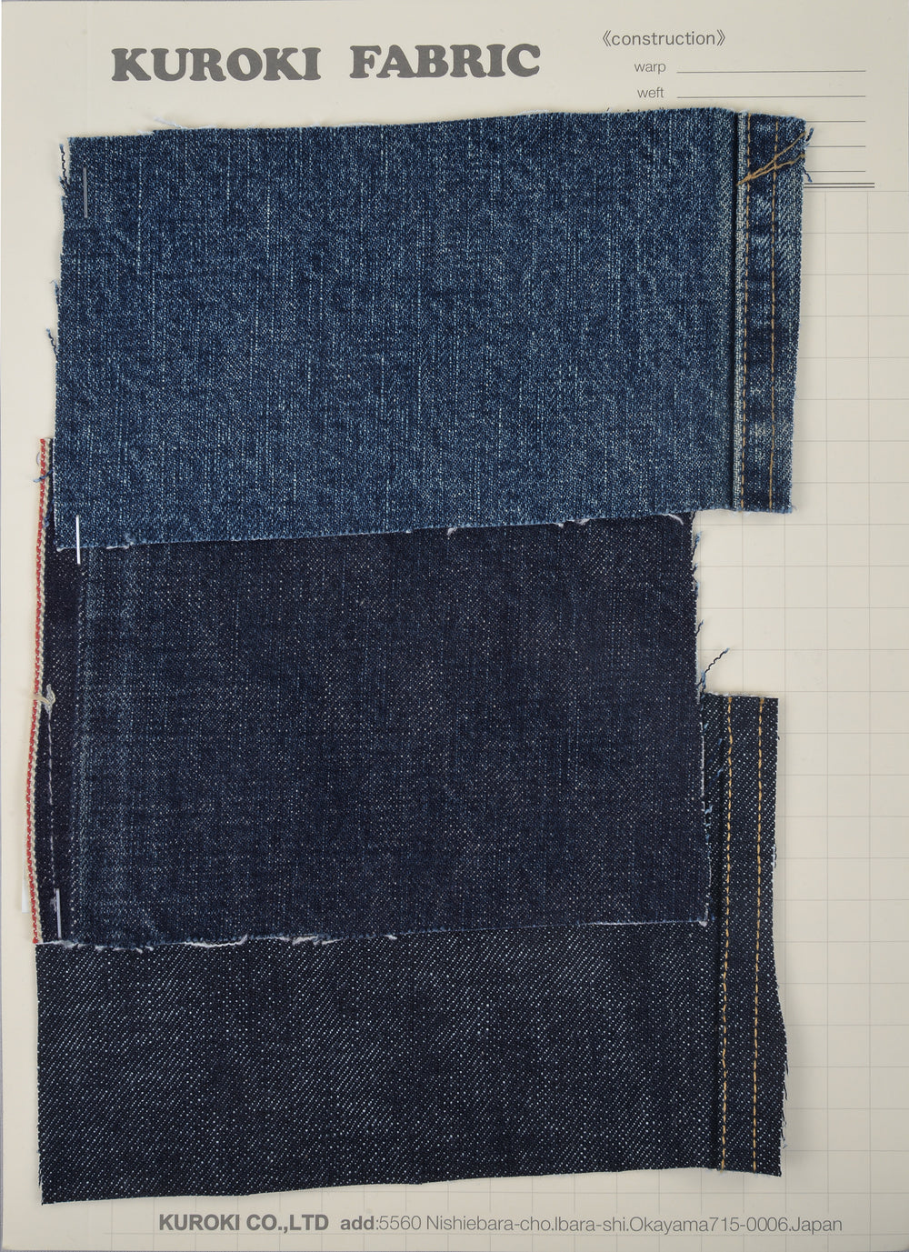 Jeans: 15 Oz Raw Selvedge by Kuroki Japan