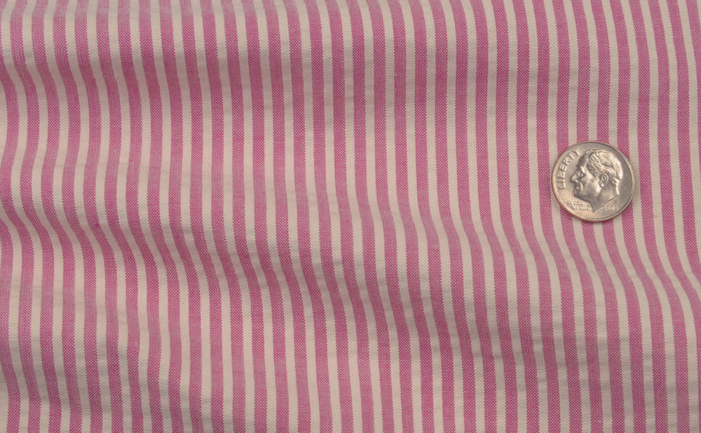 Red Violet  Candy Stripes Seersucker