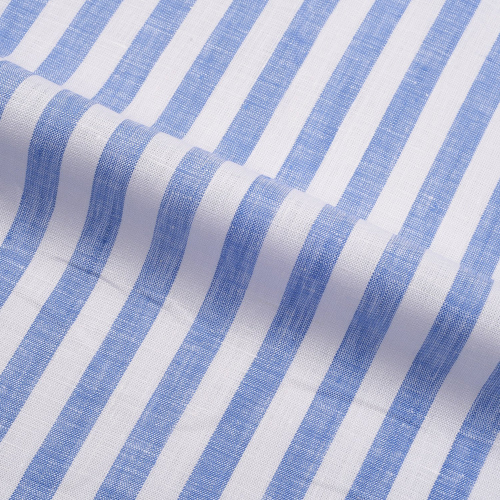 Blue Awning Stripes Linen