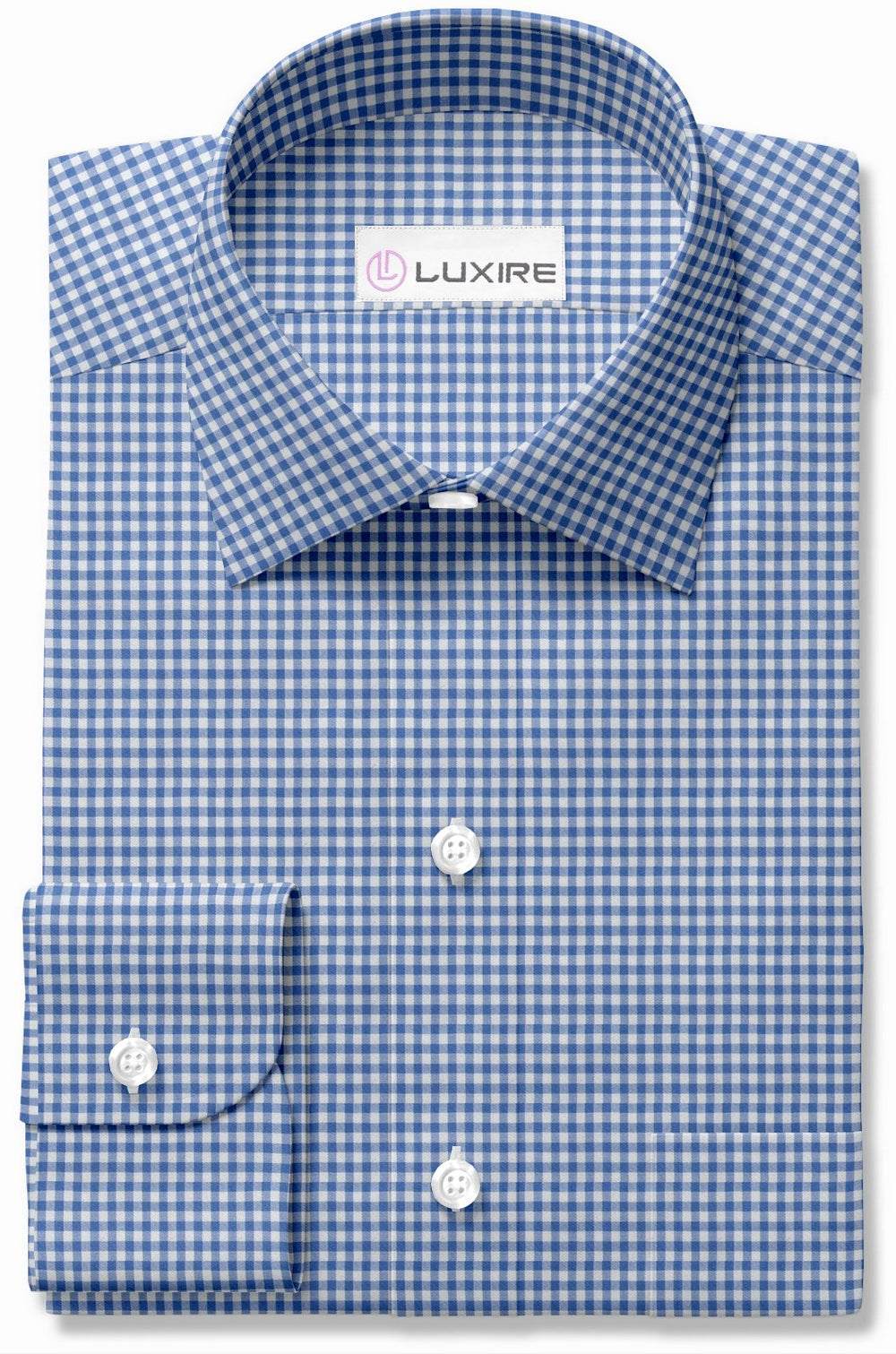 Blue on White Classic Gingham (363695241)