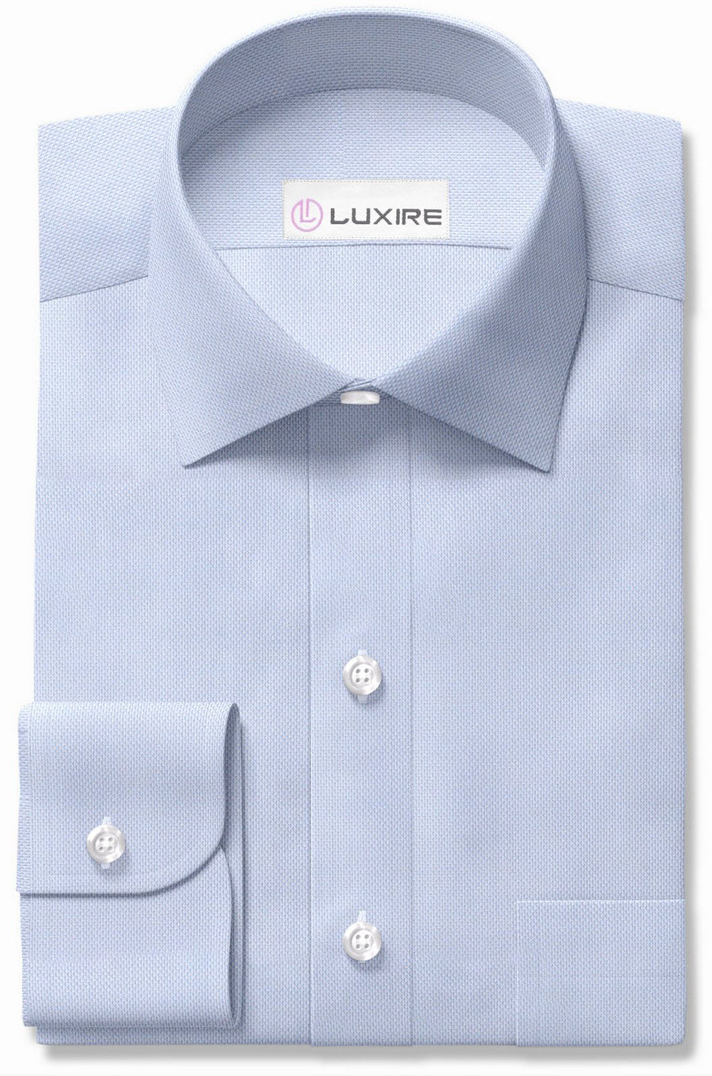 Albini Fine Light Blue Pinpoint Oxford (3883527748)