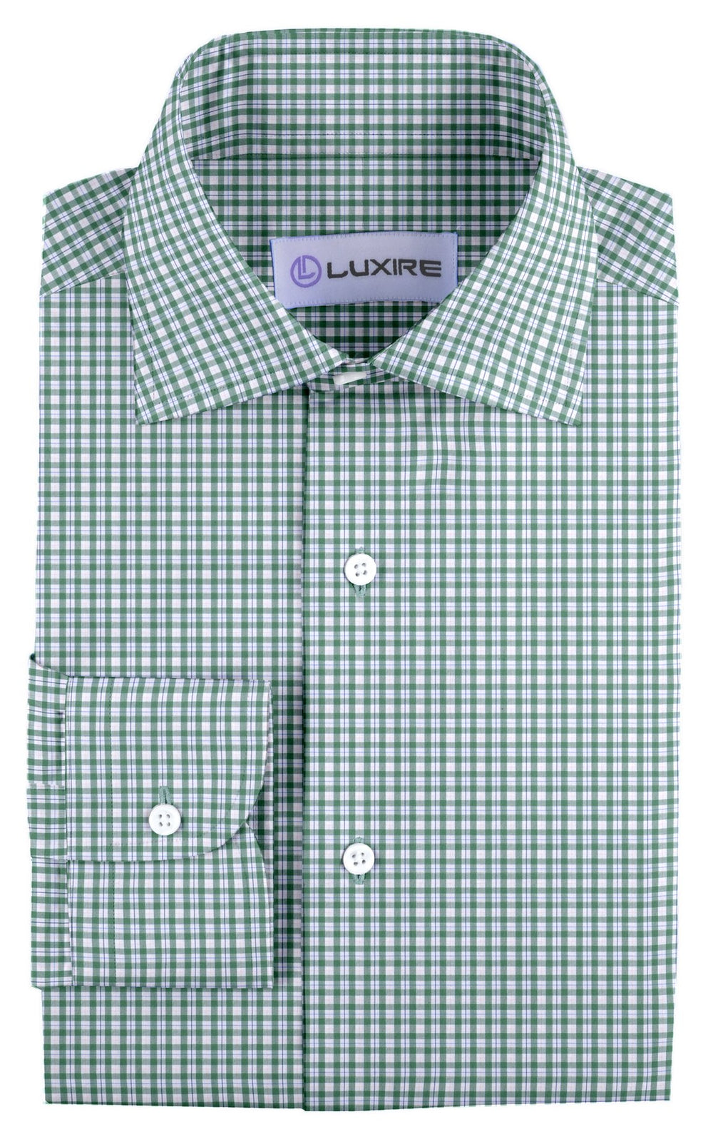 Classic Green Tattersall Checks On White (4208362180)