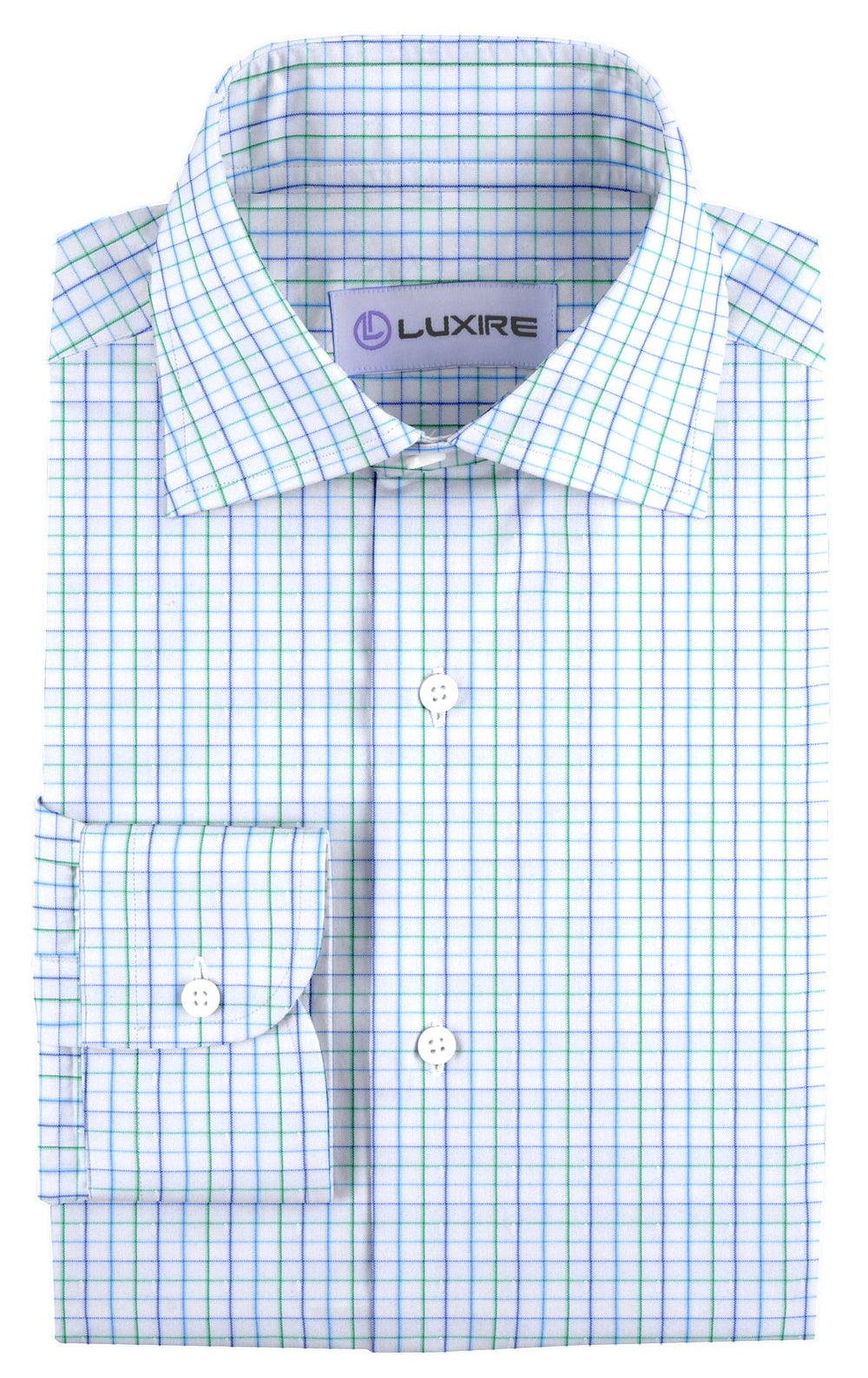 Classic Green Blue Graph Checks On White (4214765700)