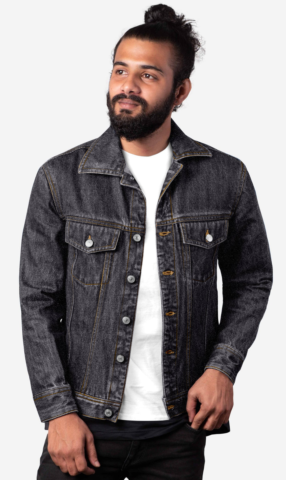 Denim Jacket in Luxire Signature Black Jeans (1738516103223)