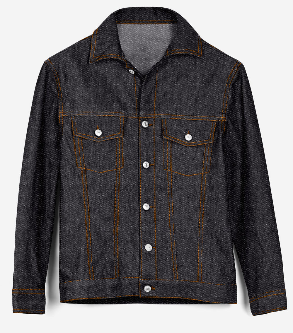 Denim Jacket in Luxire Signature Black Jeans