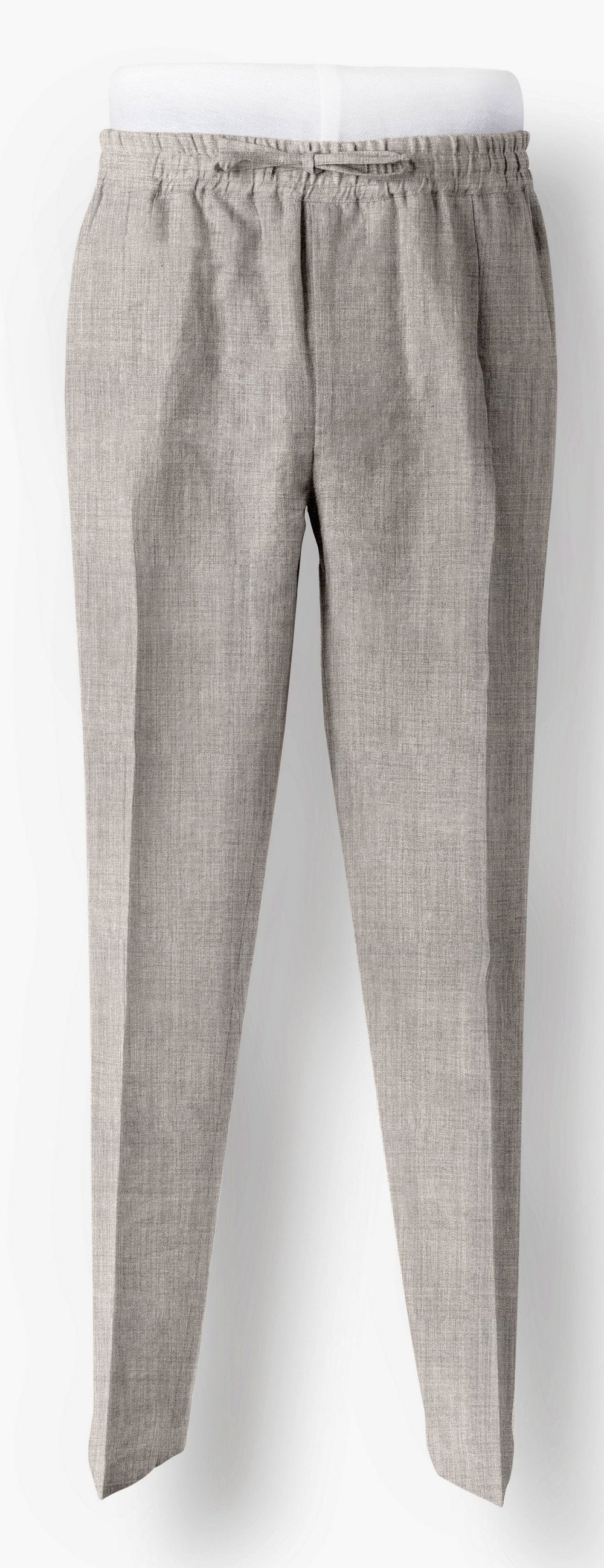 Drago Grey Fine Worsted Wool Drawstring Pants