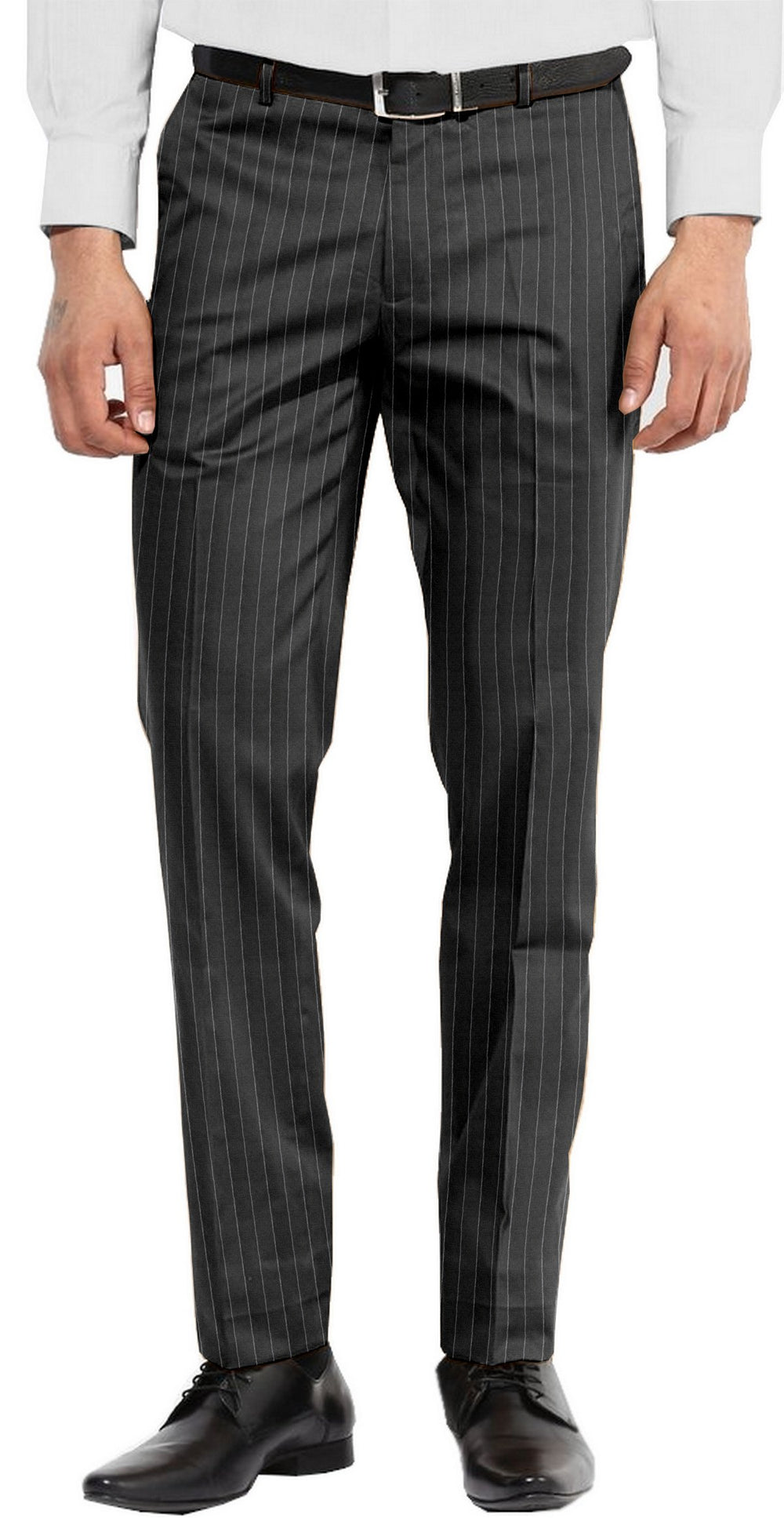 Dugdale Fine Worsted - Grey Chalk Stripe Pant