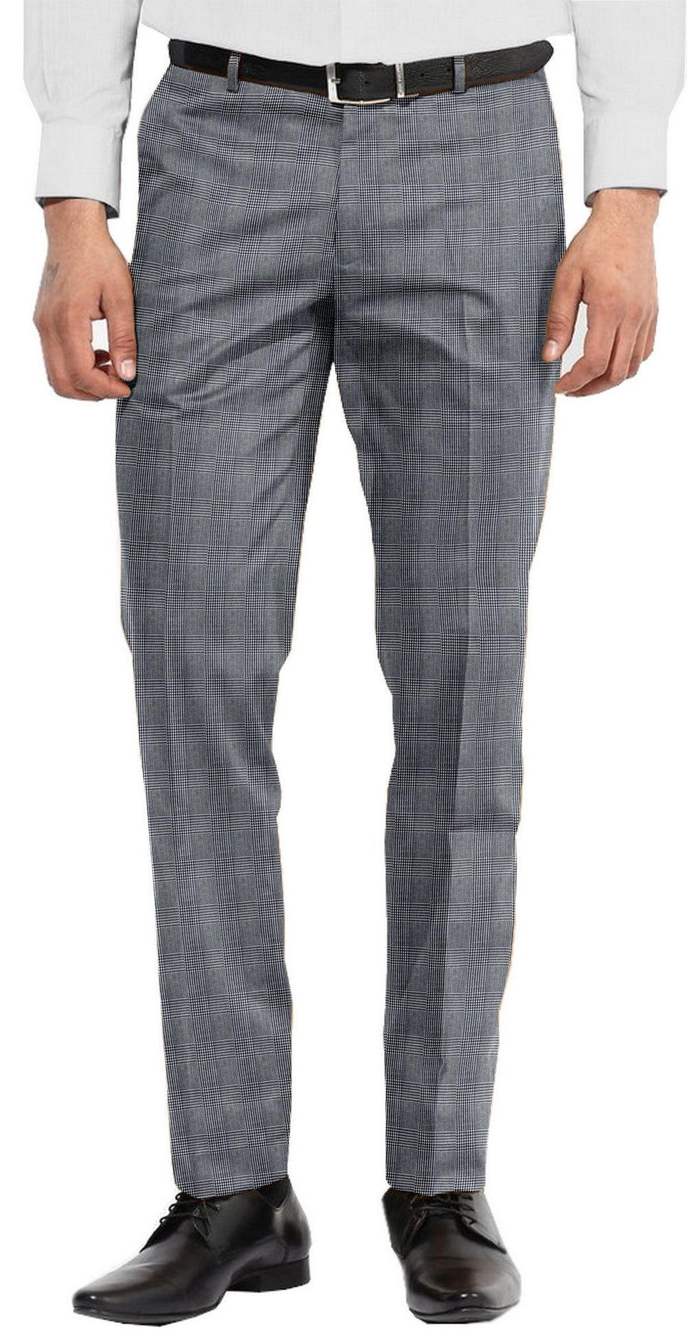 Dugdale Fine Worsted Pant - Blue Prince of Wales Check