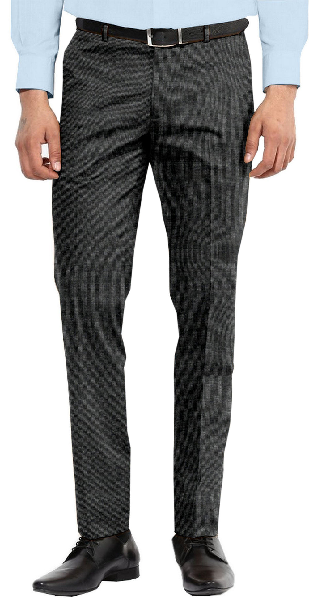 Dugdale Fine Worsted - Grey Textured Plain Pant