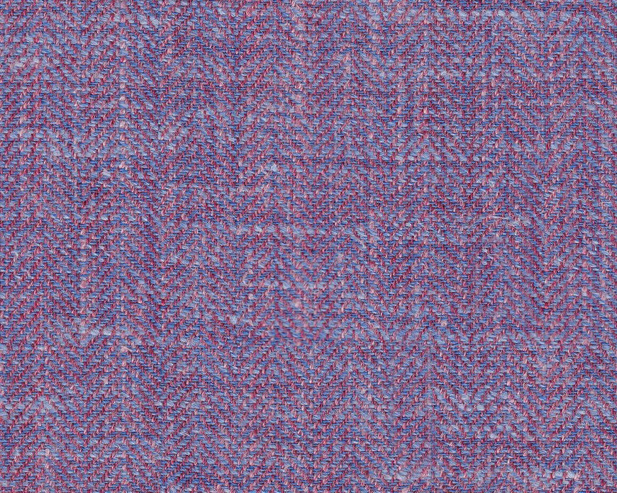 Dugdale Cascade Linen-Silk Jacket: Purple Herringbone