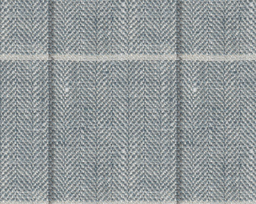Dugdale Cascade Linen-Silk: Slate Blue with Grey and White Check