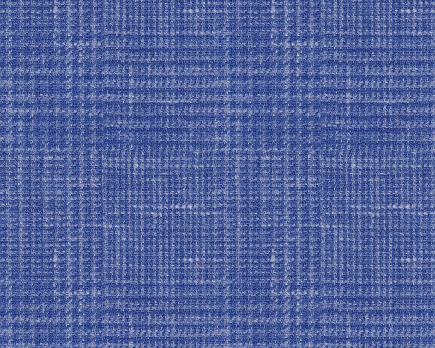 Dugdale Cascade Linen-Silk Jacket: Royal Blue Glen Check